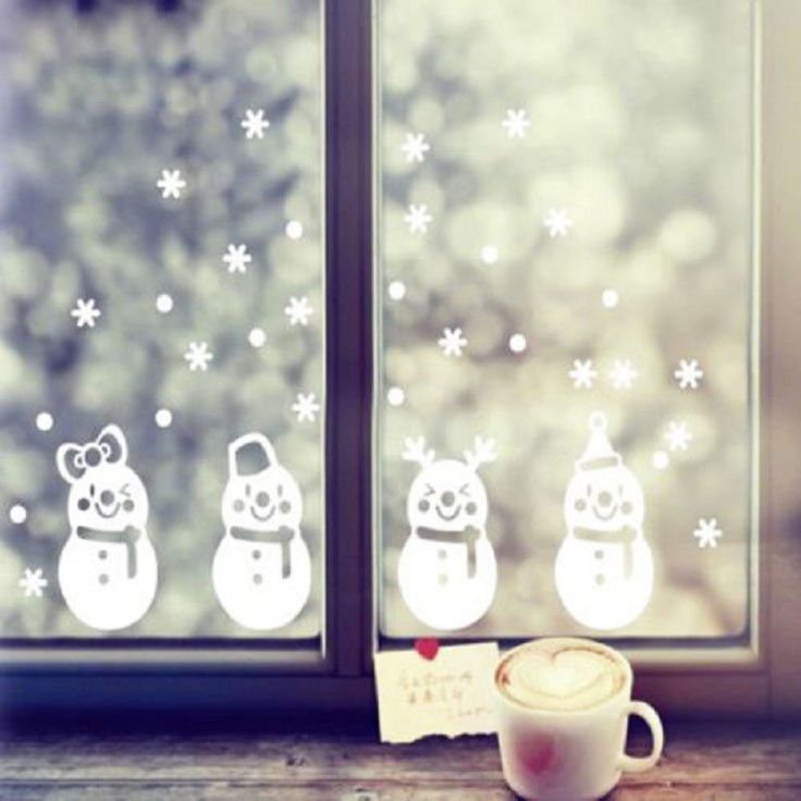 Snowman Winter 65x45cm Wall Sticker   Free Worldwide Shipping!  Only $5.44    Order from: www.happycozyhome.com