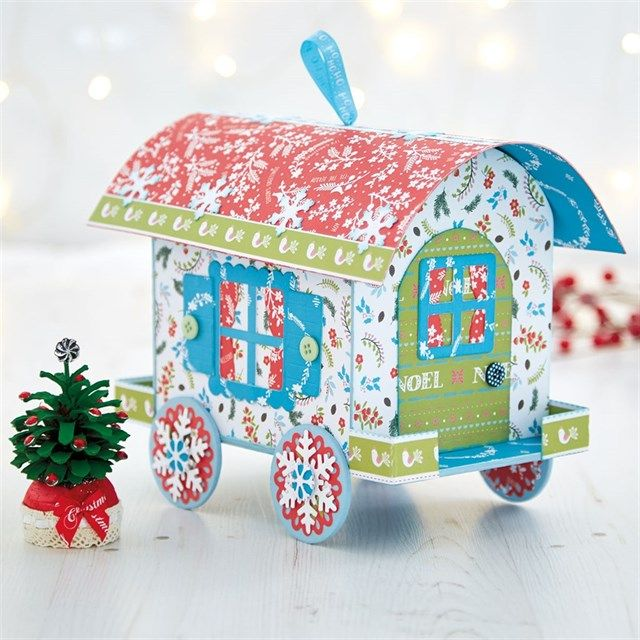 Christmas Wagon Trinket Box Tutorial | If you're after a fun, bright and functional Christmas project, look no further than this folk-inspired bowtop wagon!