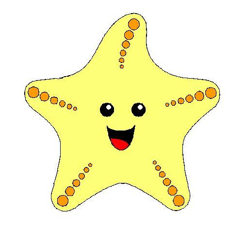 estrella de mar: Dibujos Marinos, Fondo Marino, Clipart