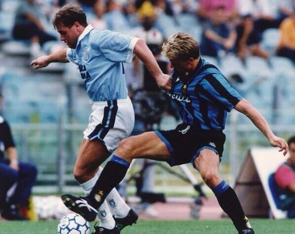 Dennis Bergkamp and Paul Gascoigne.