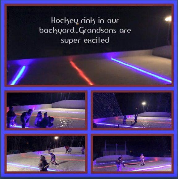 RED LINE-Under the liner LED NiceLights | Backyard hockey ...