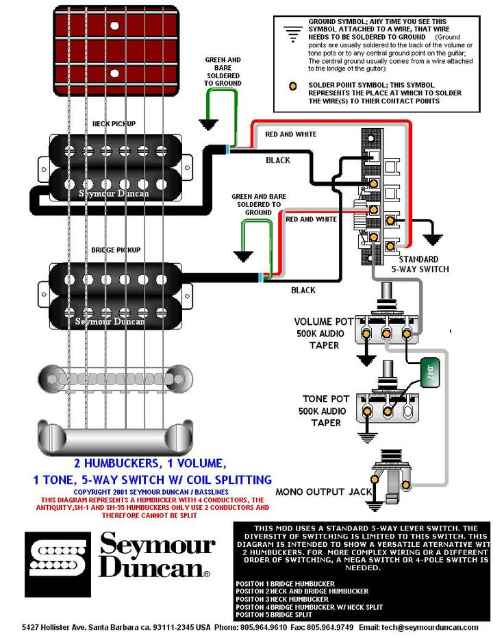 2 double coil humbuckers 1 volume 1 tone 5 way import switch wiring diagram wiring diagram | prs dimarzio seymour duncan | pinterest ...