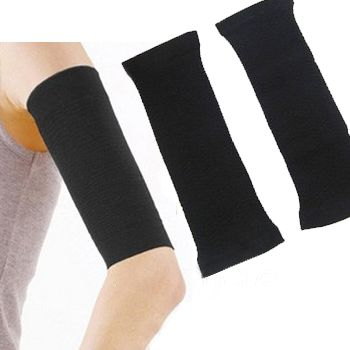 Wear these compression arm bands any time to slim down your upper arms. SIZING One size fits most. Approximate size: 22-35 cm MATERIALS - Spandex - Nylon