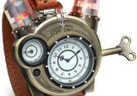 Tesla Watch – steampunk watch fights for attention on your wrist