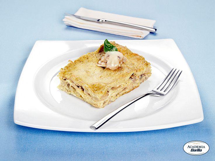 Lasagne con pesto e funghi - Dettaglio