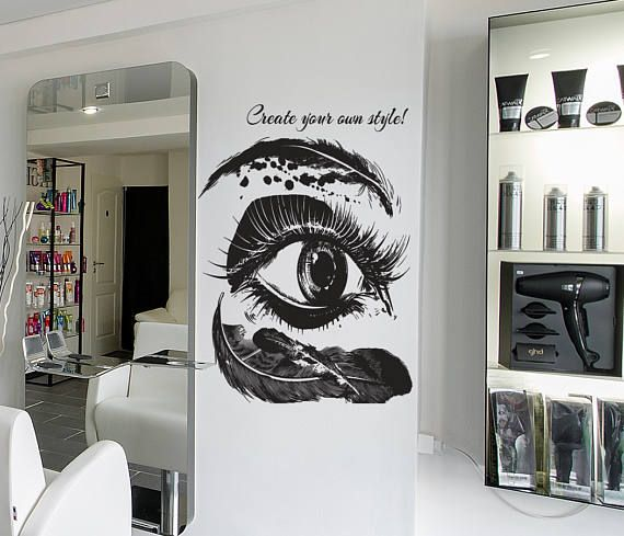 Feather Eyelashes Eye Wall Decal Mascara Eye Wall Sticker  #eyemakeup #eyelashes #EyelashExtensions #eyemakeup #eyebrows #eyeliner #eyedecal #eyelashdecal #eyelashsticker #mascara #walldecor #walldecal #wallart #wallsticker #room #roomdecor #bedroomdecor #bedroomideas #bedroomdesign #makeuproom #makeuproomdecor