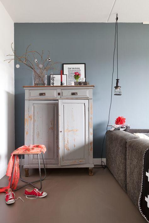 muurkleur steel van painting the past - mooi voor de slaapkamer