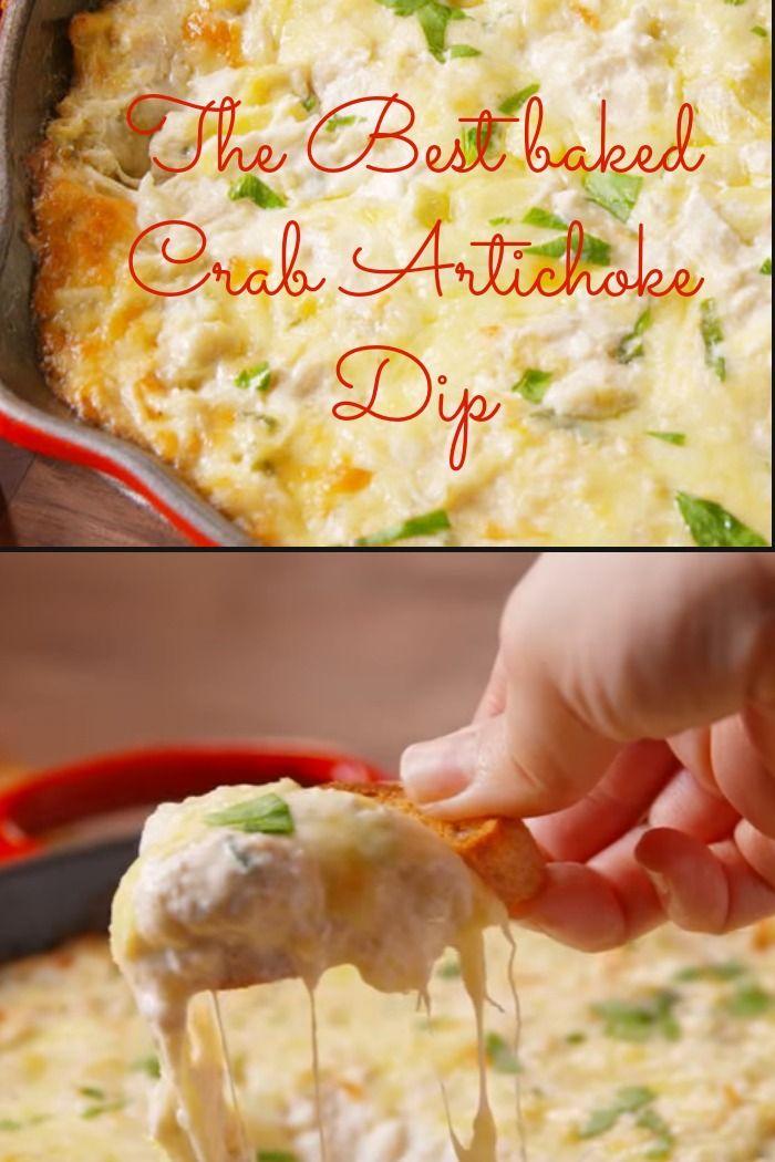 The Best Baked Crab Artichoke Dip