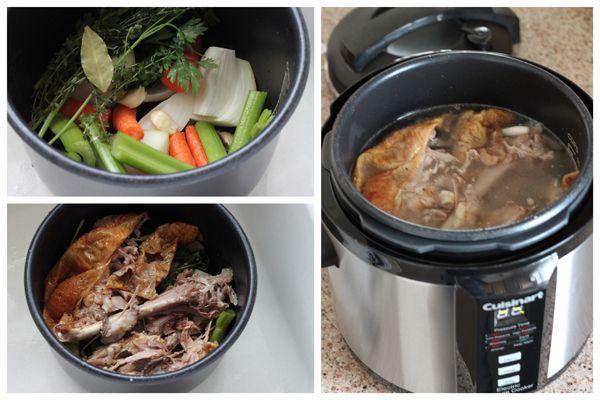 Pressure Cooker Turkey Stock