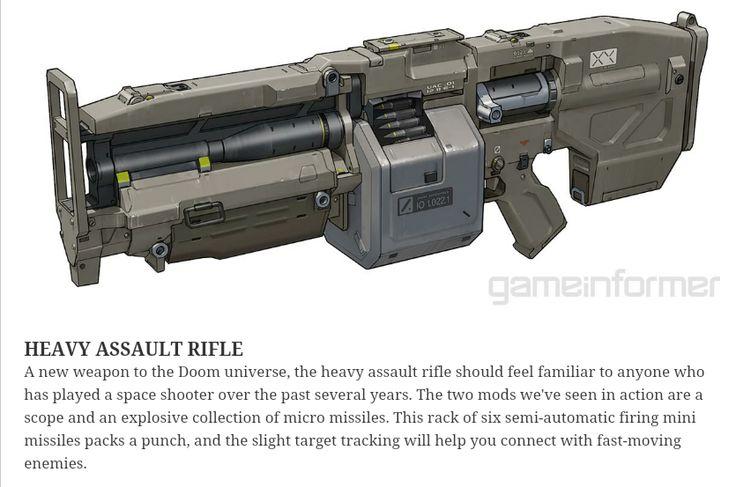 DOOM 2016 Assault Rifle