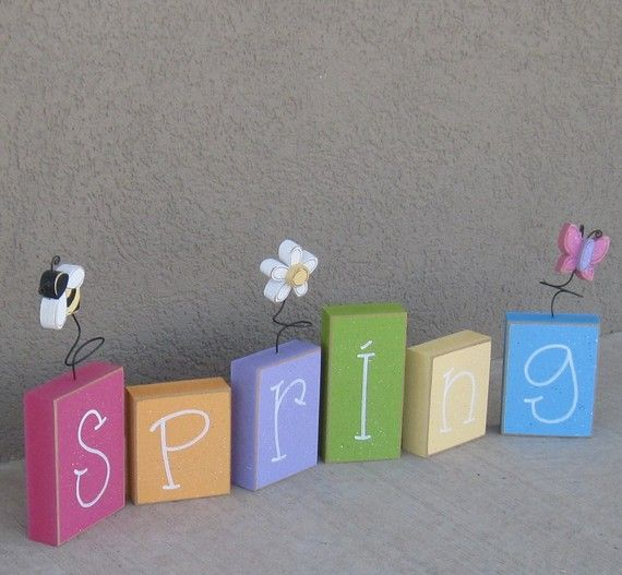 Spring Wood Blocks