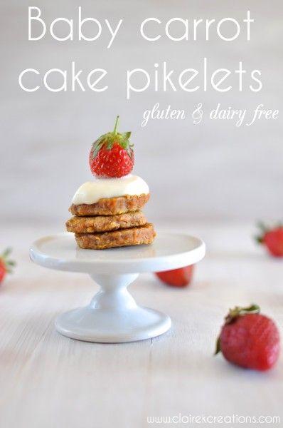Gluten free carrot cake pikelets