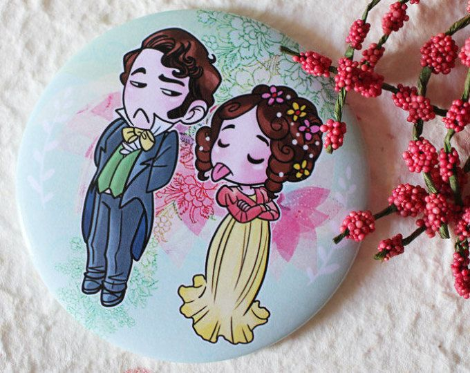 POCKET MIRROR : Elizabeth Bennet & Mr Darcy, Pride and Prejudice