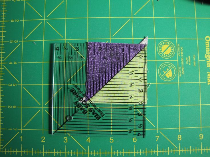 Alamosa Quilter: Half Square Triangle Formula Here is a simple formula for how to make half square triangles from squares.