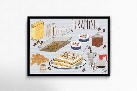 Lakásdekoráció kép, kerettel, ingyen szállítással: Tiramisu (hintapalinta) - Meska.hu