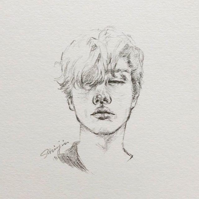 drawingbijou model boy sketch doodle pencil shinjin art draw drawing 스케치 드로잉 illustration 인물화 남자 소년  man 낙서 연필그림 연필 연필스케치 일러스트