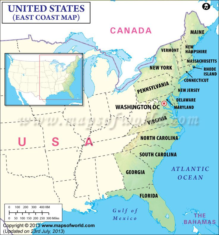 Map Usa East Coast Cities - Eastern us maps with states and cities
