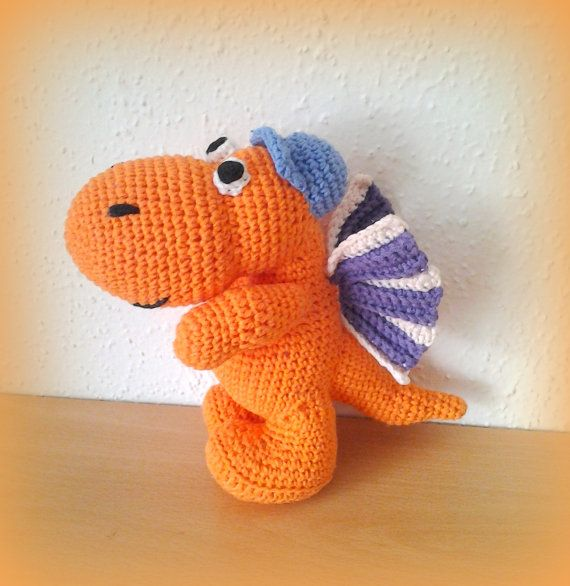 Crochet Dragon Coconut by CrochetlandRV on Etsy Drachen Kokosnuss