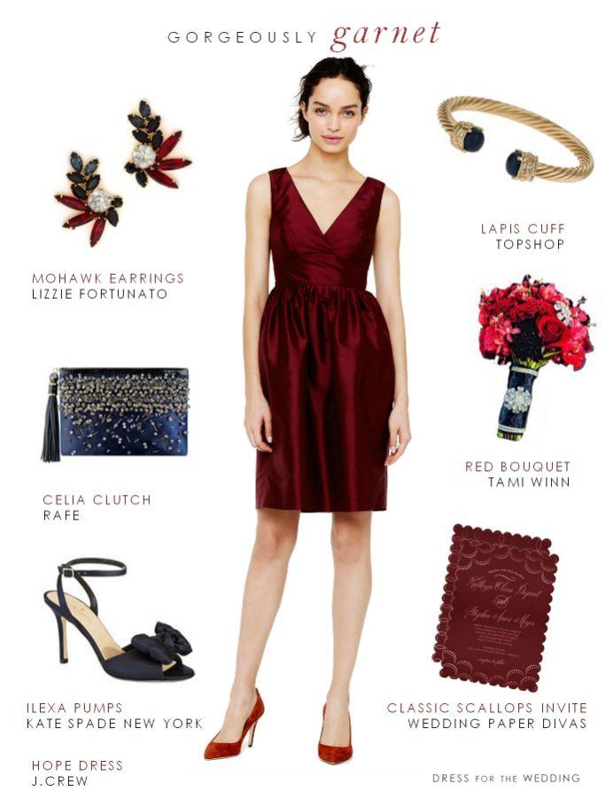 Garnet Red Bridesmaid Dresses