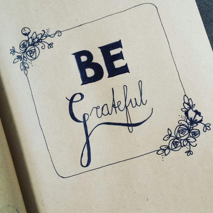 Be grateful handlettering