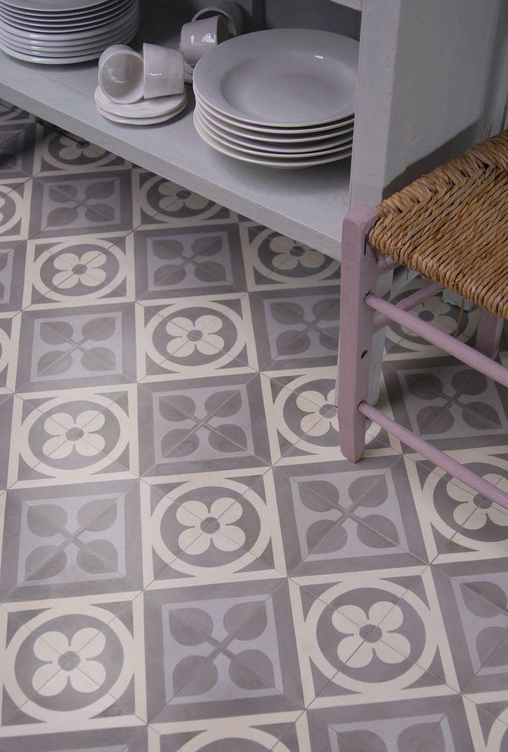 Carrelage de sol / en ciment / poli / aspect mosaïque - La Maestria