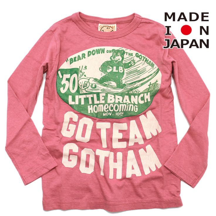 GOTHAM(ゴッサム):フットボールベアロンT ローズ の通販【ブランド子供服のミリバール】