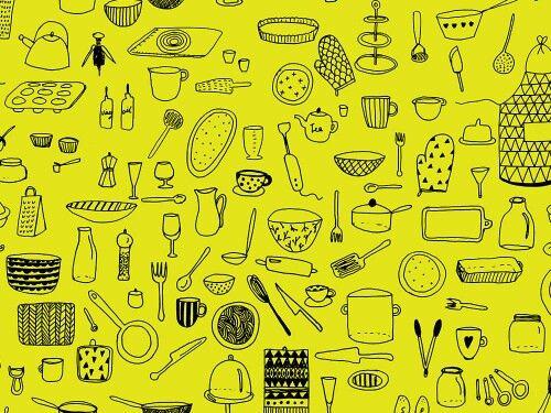 """grafika z katalogu """"Przedmioty i Postacie"""" - Kuchennie na zielono http://cottonbee.pl/tkaniny/przedmioty-i-postacie/7269-kuchennie-na-zielono.html"""