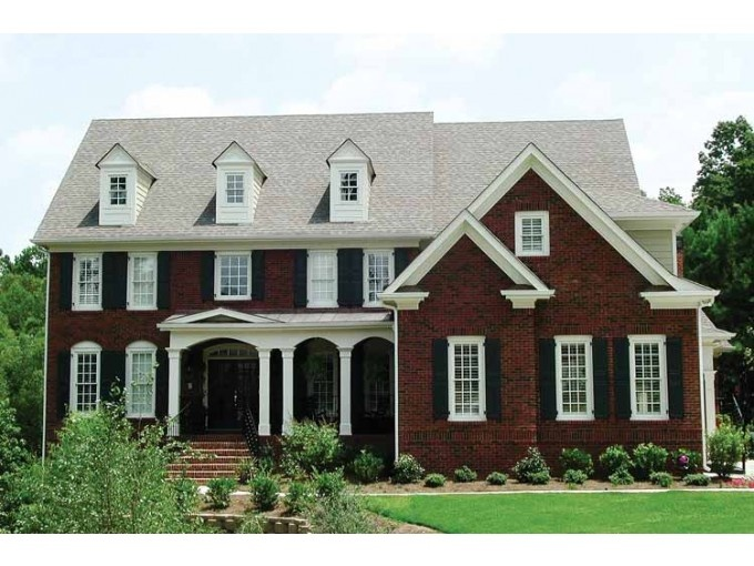 eplans colonial house plan an updated classic 4231 square feet and 5 bedrooms from eplans house plan code - Red Brick House Plans