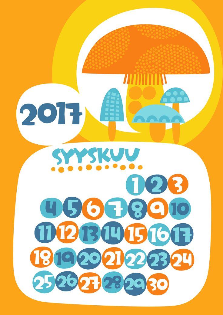 Syyskuu 2017 | free | printable | pattern | lasten | lapset | askartelu | kalenteri | vuosikalenteri | seinäkalenteri | tulostettava | paperi | koti | sisustus | kids | children | crafts | home | paper | calendar | Pikku Kakkonen