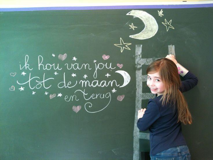 ik hou van jou tot aan de maan en terug