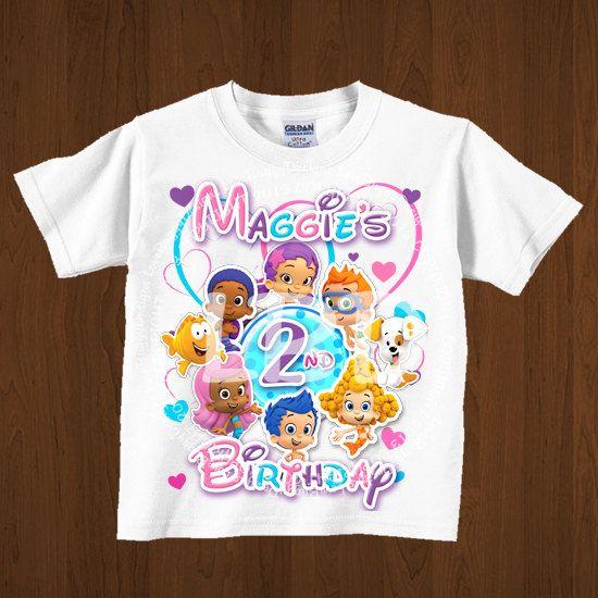 Bubble Guppies Birthday Shirt Printable, Bubble Guppies Birthday Iron On Image, Bubble Guppies Party Printables - Style 11 - YOU PRINT on Etsy, $5.99