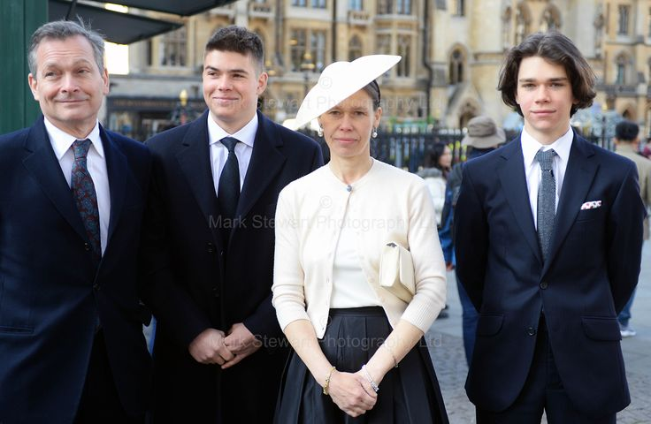 markstewartphotographyltd:  Service of Thanksgiving for the 1st Earl of Snowdon, St Margaret's Church, April 7, 2017-Lady Sarah Chatto with husband Daniel and sons Arthur and Samuel