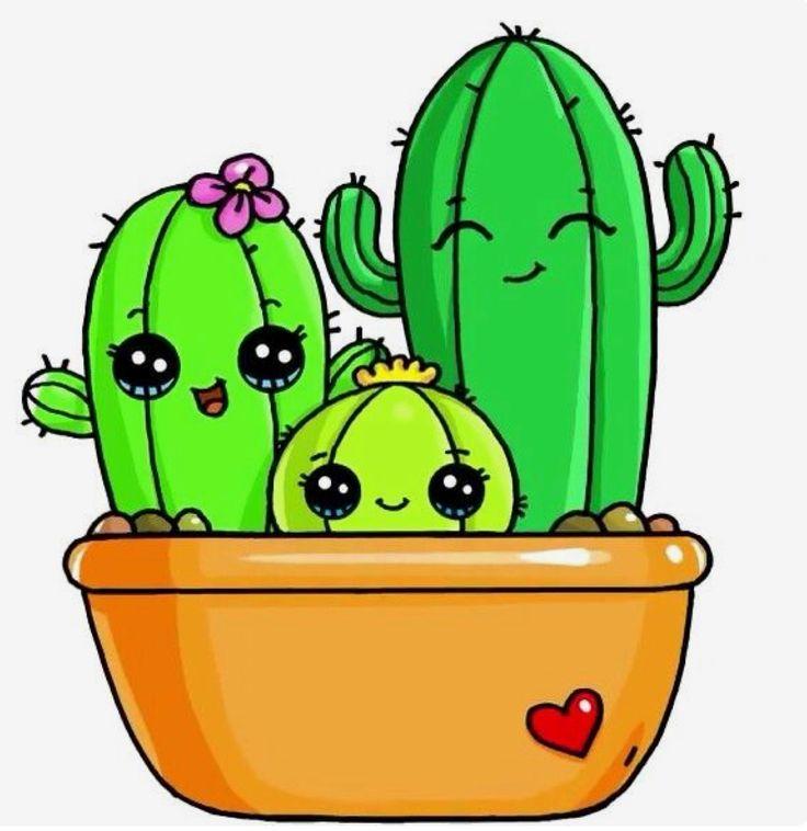 Картинка нарисованный кактус