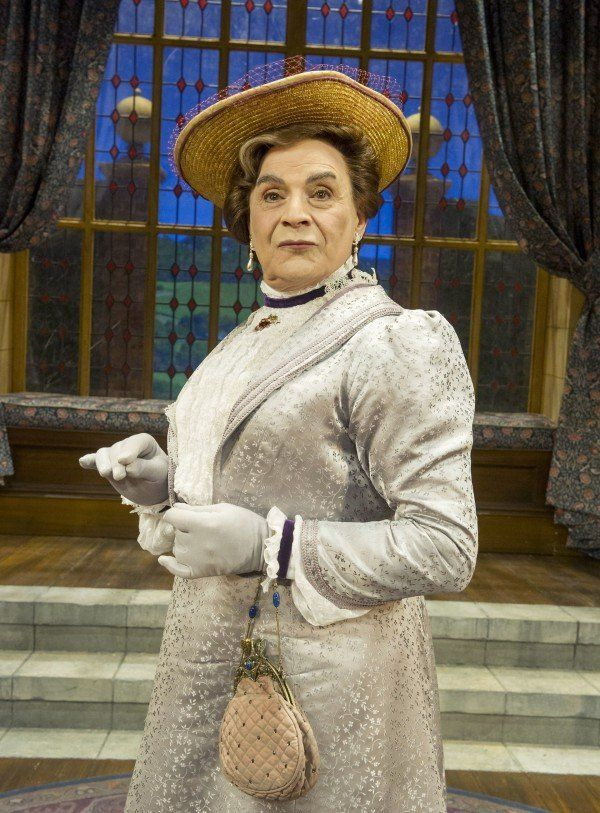 David Suchet stars as Lady Bracknell in The Importance of Being Earnest, Vaudeville Theatre, London. 2015.
