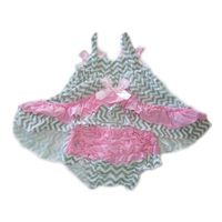 Princess Top with Matching Bloomer - Grey Pink (6-18 Months)