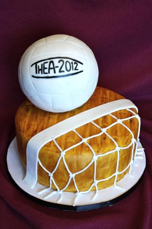 volleyball cake! I should make one for my coach because he said we can't have sugar then he can't have any either! Ha