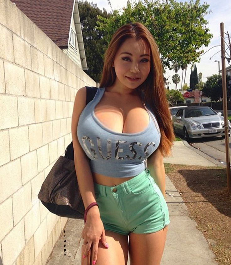Sexy big tit asian are