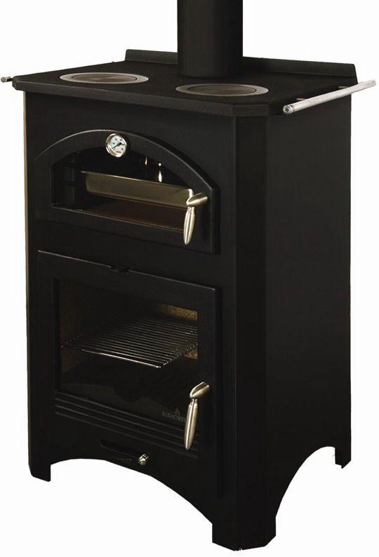 Estufa de le a monza con horno y aros de cocina - Cocinas con horno de lena ...