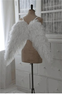 Love these angels wings!  They look adorable on this dress form!