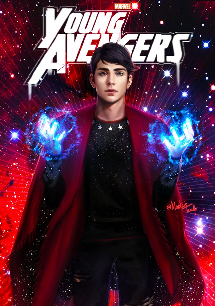 """""""There are new kids on the block""""  Young Avengers Netflix mini-series. William """"Billy"""" Kaplan, aka Wiccan."""