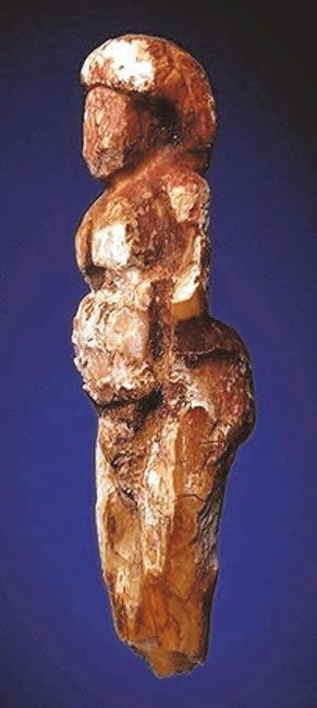 'Red Ochre Venus' - Balzi Rossi, Barma Grande cave dated to about 22,000 years ago.