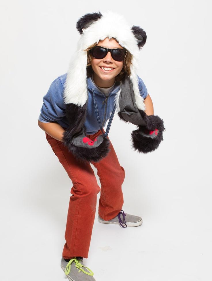 What's Your Spirit Animal?..... PANDA (Faux Fur) ................... Traits: Balance > Solitude > Strength. Find out more about the #Panda #Spirit #Animal at: https://www.spirithoods.com/kids/boys/panda/802/ $69 #Gifts #Fashion #SpiritHood #SpiritHoods #Hoodie #FauxFur #Paws #Scarf #Kids #Boys #ProBlue