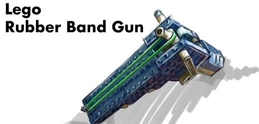 lego rubber band machine gun