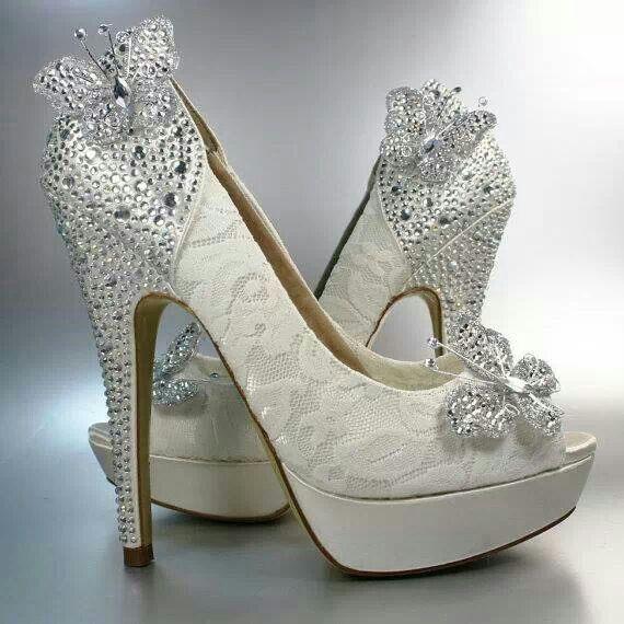 New Fashion Beading Erfly P Toe Wedding Shoes