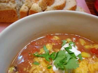 HEARTY FIESTA BEAN SOUP The Sisters Dish: Soup-- This soup is fast ...