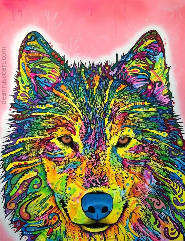 Dean Russo Wolf Art Mmm Psychedelic Wolf Me Likes Wolf