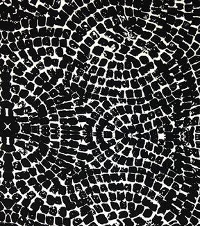 Nicole Miller Rayon Spandex Fabric-Mosaic Black