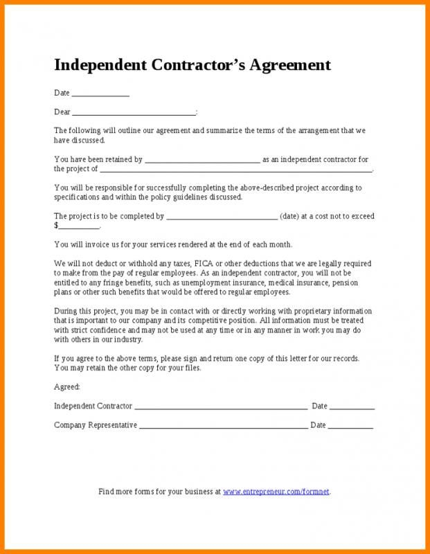 Contractor Proposal Template Contractor Contract Construction