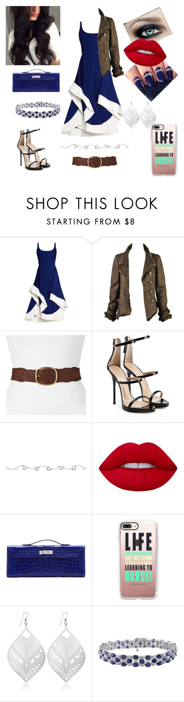 """Maya #131"" by jessicaj15 ❤ liked on Polyvore featuring Esteban Cortazar, Chanel, SONOMA Goods for Life, Giuseppe Zanotti, Palm Beach Jewelry, Lime Crime, Hermès and Casetify"