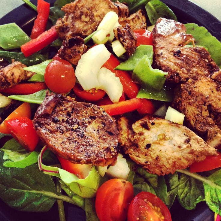 Love leftovers! 12wbt Chilli Chicken with #Salad - delicious!